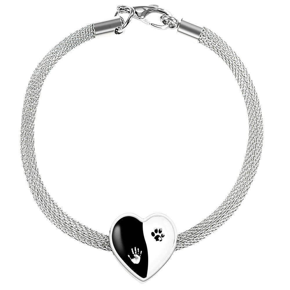 Veterinary Jewelry Gift Heart Charm Luxury Steel Bracelet - Ying Yang-Luxury Steel Bracelet-I love Veterinary