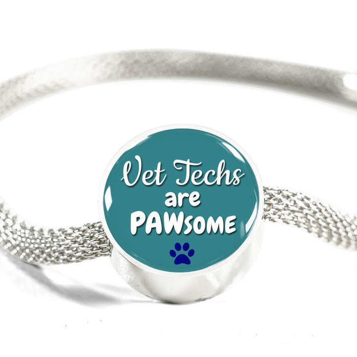 Veterinary Technician Jewelry Gift Circle Charm Luxury