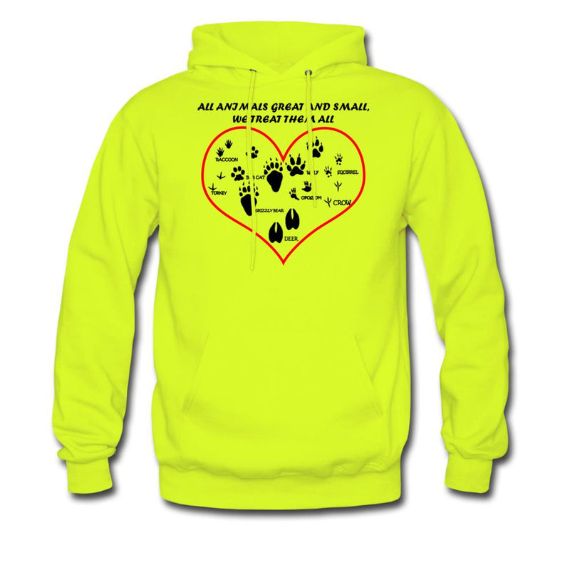 All animals great and small, we treat them all Unisex Hoodie-Men's Hoodie-I love Veterinary