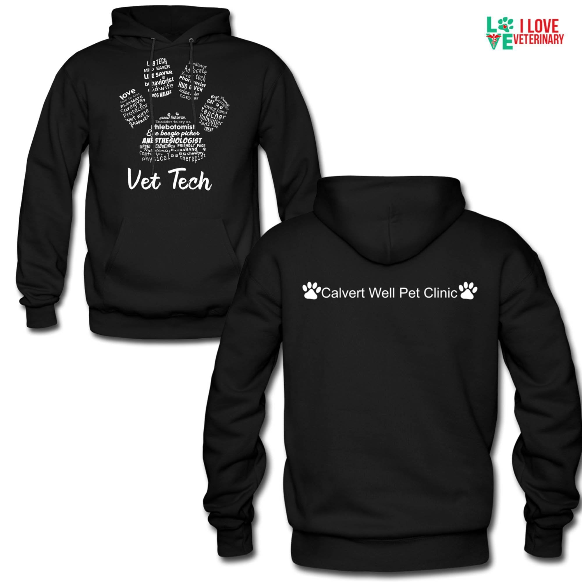 Calvert Well Pet Clinic Unisex Hoodie-Men's Hoodie-I love Veterinary