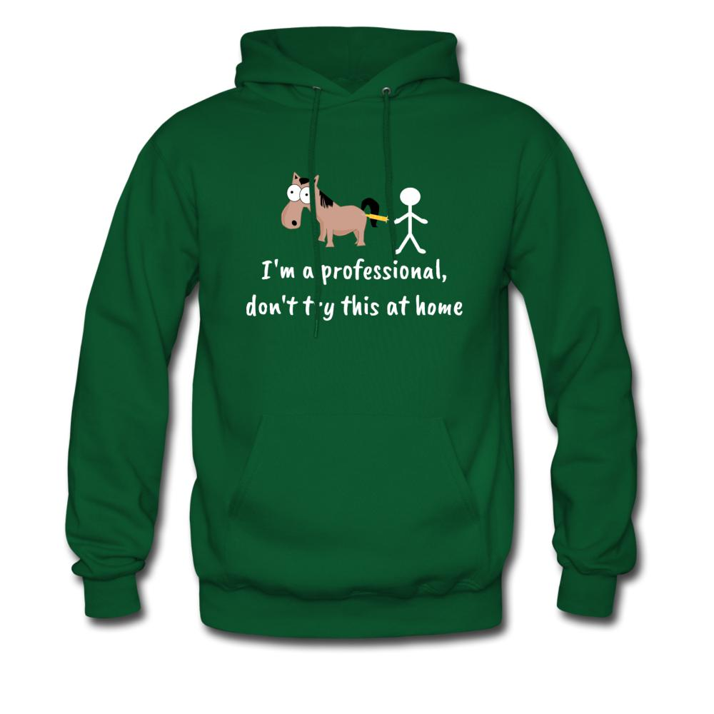 Don't try this at home Unisex Hoodie-Men's Hoodie-I love Veterinary