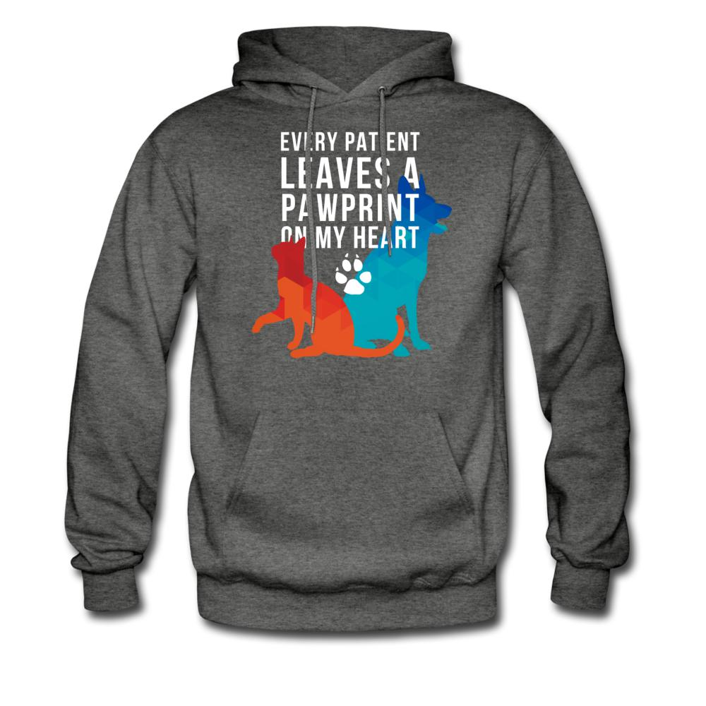 Every patient leaves a pawprint on my heart Unisex Hoodie-Men's Hoodie-I love Veterinary