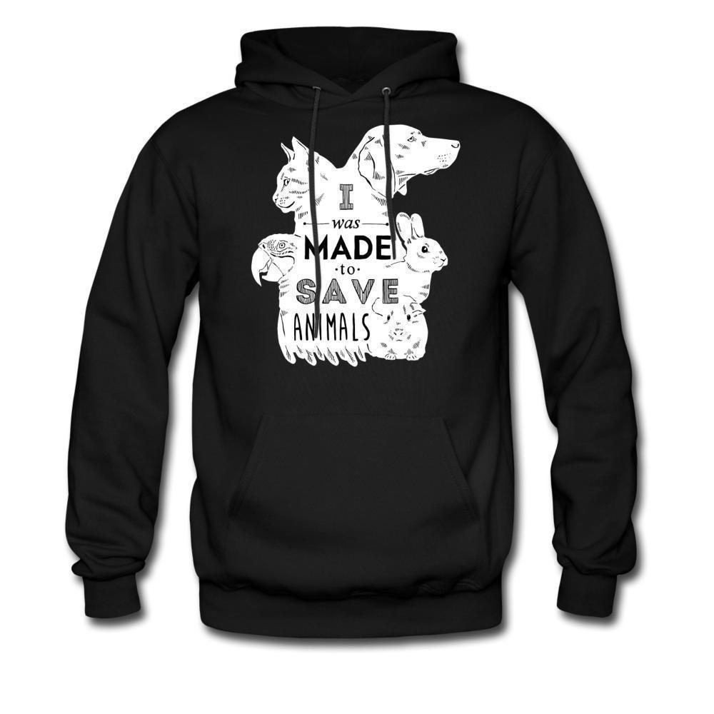 I was made to save animals Unisex Hoodie-Men's Hoodie-I love Veterinary