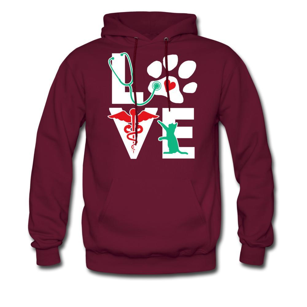 Love Veterinary Cat Unisex Hoodie-Men's Hoodie-I love Veterinary