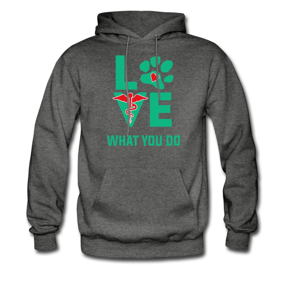 Love what you do Unisex Hoodie-Men's Hoodie-I love Veterinary