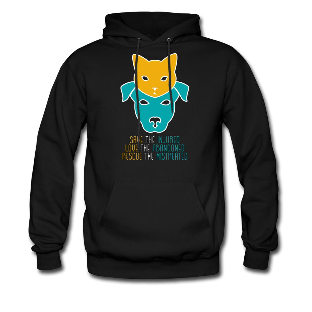 Save the injured, love the abandoned, rescue the mistreated Unisex Hoodie-Men's Hoodie-I love Veterinary
