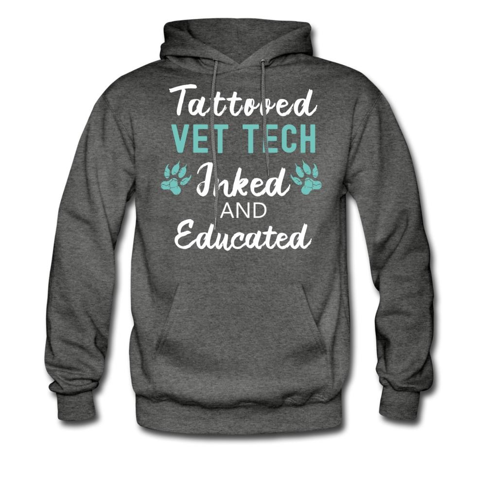Vet Tech Inked and Educated Unisex Hoodie-Men's Hoodie-I love Veterinary