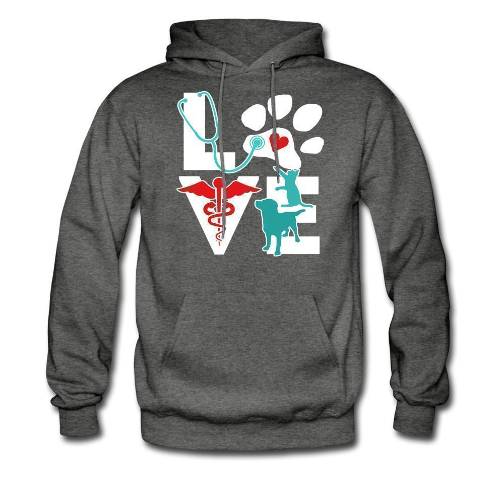 Veterinary Love Dog and Cat Unisex Hoodie-Men's Hoodie-I love Veterinary