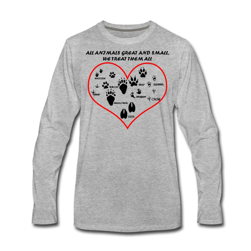 All animals great and small, we treat them all Unisex Long Sleeve T-Shirt-Men's Premium Long Sleeve T-Shirt-I love Veterinary