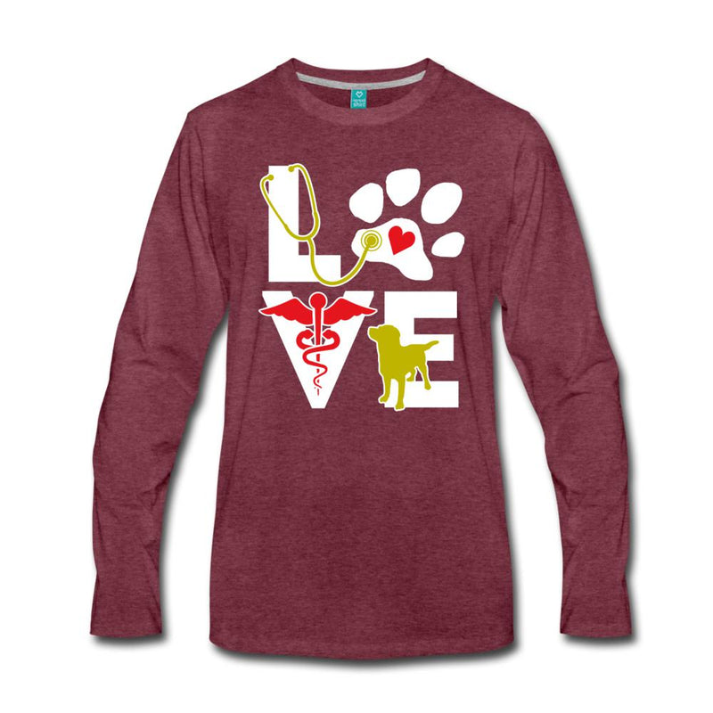 Love dog Unisex Premium Long Sleeve T-Shirt-Men's Premium Long Sleeve T-Shirt-I love Veterinary