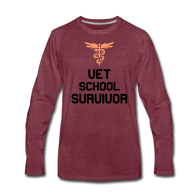 Vet school survivor - Vet Student Unisex Premium Long Sleeve T-Shirt-Men's Premium Long Sleeve T-Shirt-I love Veterinary