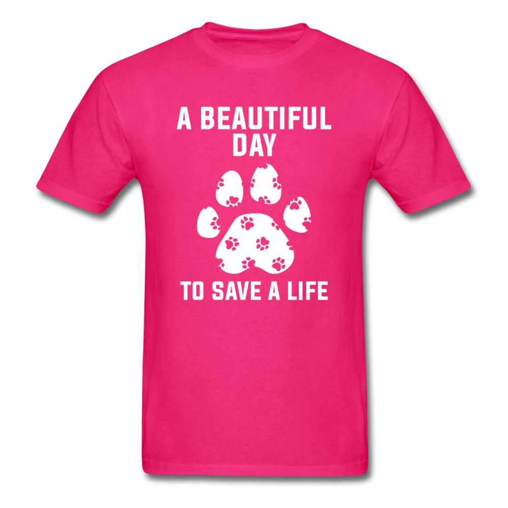 A beautiful day to save a life Unisex T-shirt-Unisex Classic T-Shirt | Fruit of the Loom 3930-I love Veterinary