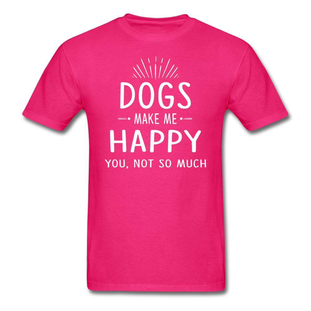 Dogs make me happy Unisex T-shirt-Unisex Classic T-Shirt | Fruit of the Loom 3930-I love Veterinary