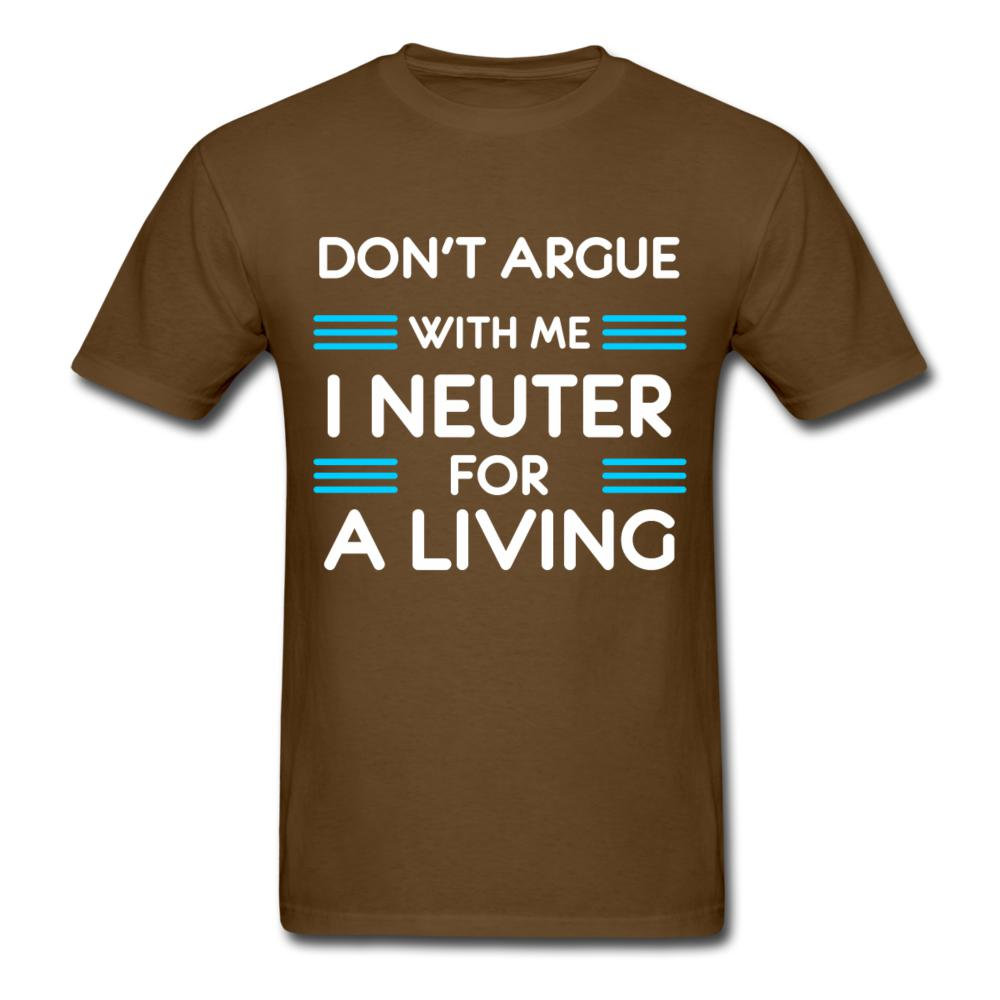 Don't argue with me I neuter for a living Unisex T-shirt-Unisex Classic T-Shirt | Fruit of the Loom 3930-I love Veterinary
