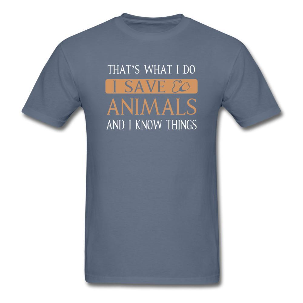 I Save Animals and I Know Things Unisex T-shirt-Unisex Classic T-Shirt | Fruit of the Loom 3930-I love Veterinary