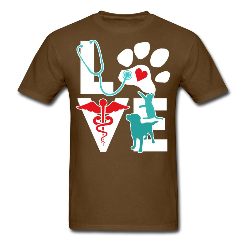 Love cat and dog Unisex T-shirt-Unisex Classic T-Shirt | Fruit of the Loom 3930-I love Veterinary