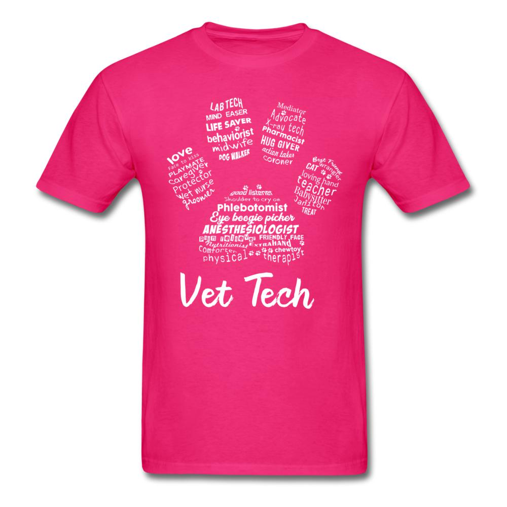 PawPrint Vet Tech Unisex T-shirt-Men's T-Shirt-I love Veterinary