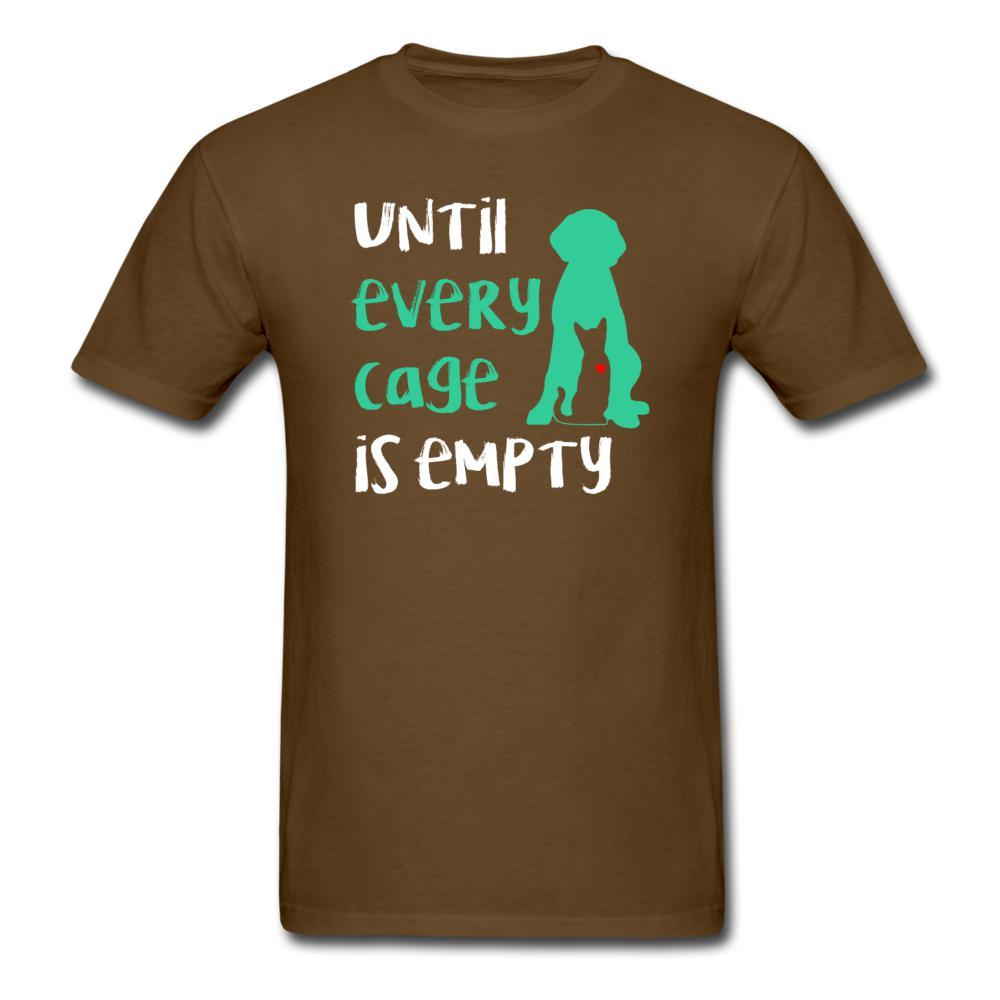 Until every cage is empty Unisex T-Shirt-Men's T-Shirt-I love Veterinary