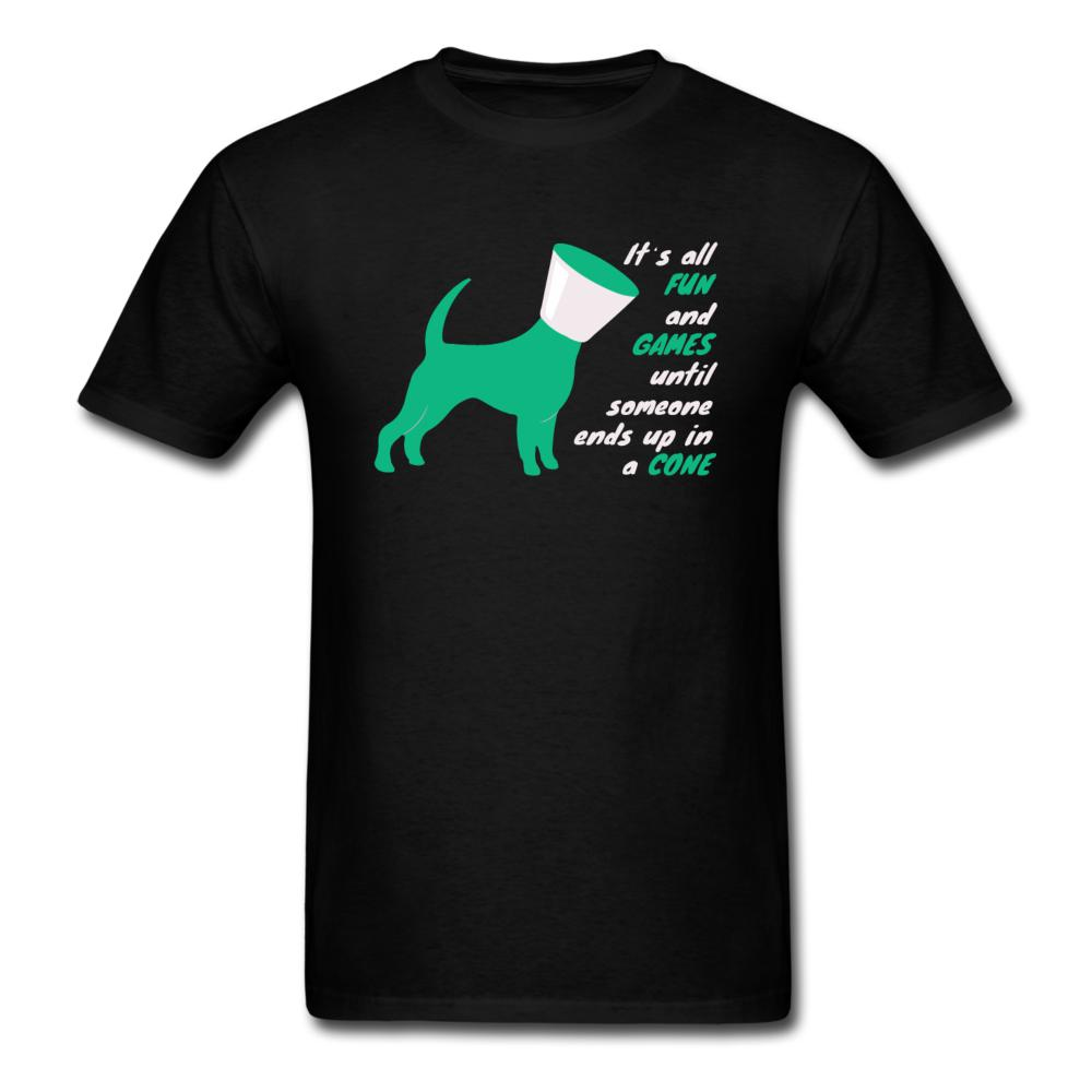 Until someone ends up in a cone Unisex T-shirt-Unisex Classic T-Shirt | Fruit of the Loom 3930-I love Veterinary