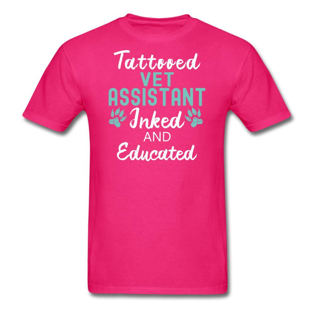 Vet Assistant- Inked and Educated Unisex T-shirt-Unisex Classic T-Shirt | Fruit of the Loom 3930-I love Veterinary