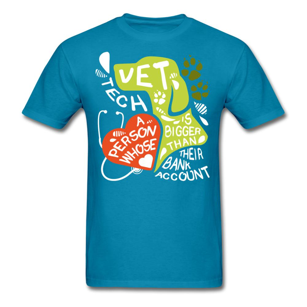 Vet Tech : A person whose heart is bigger than their bank account Unisex T-shirt-Unisex Classic T-Shirt | Fruit of the Loom 3930-I love Veterinary