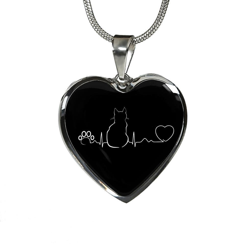 Cat Veterinarian Jewelry Gift Luxury Heart Necklace - Cat Pulse-Necklace-I love Veterinary