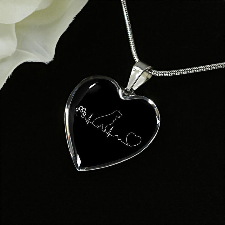 Dog Veterinarian Jewelry Gift Luxury Heart Necklace - Dog heartbeat-Necklace-I love Veterinary