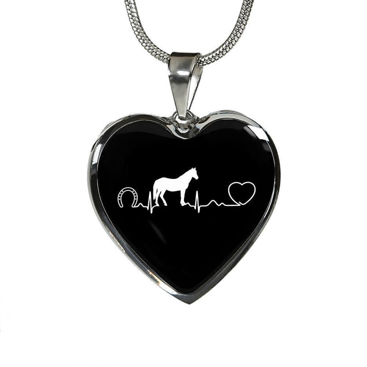 Equine Veterinarian Jewelry Gift Luxury Heart Necklace - Horse pulse-Necklace-I love Veterinary
