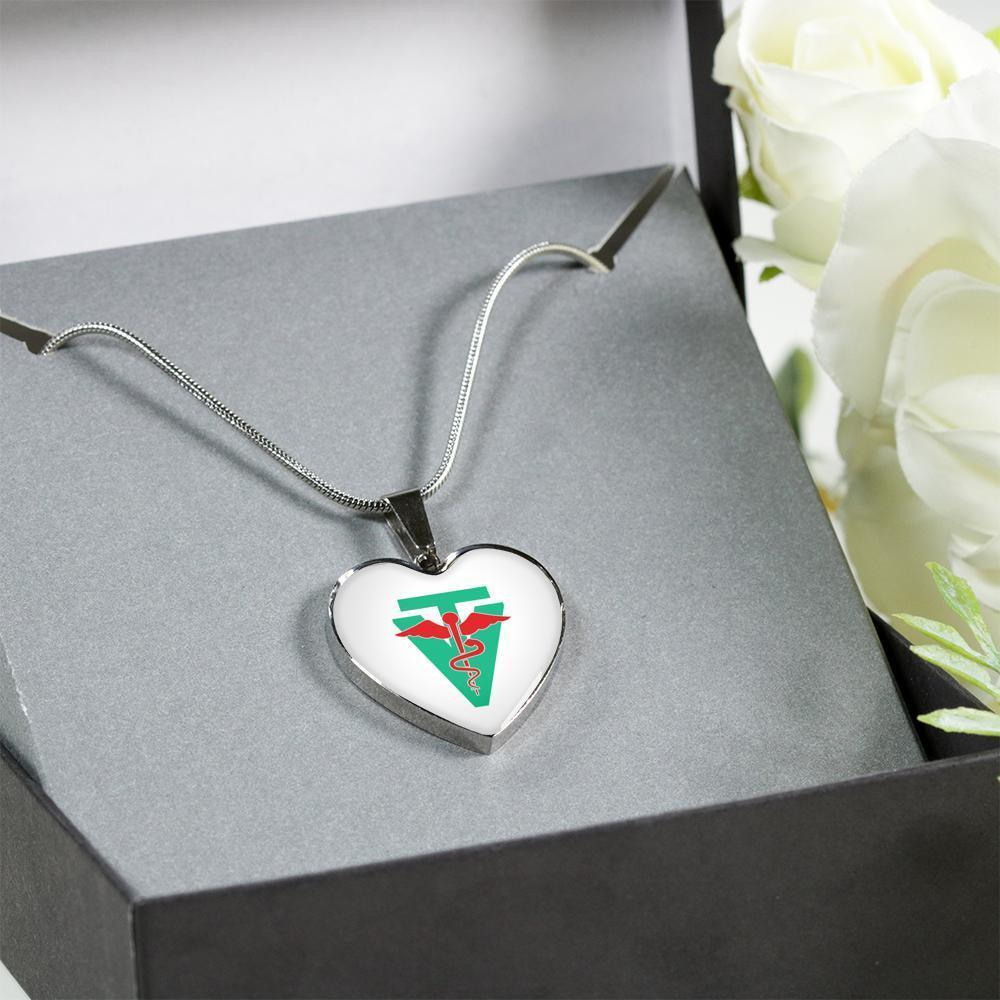 Vet Tech Jewelry Gift Luxury Heart Necklace - Veterinarian Technician sign-Necklace-I love Veterinary