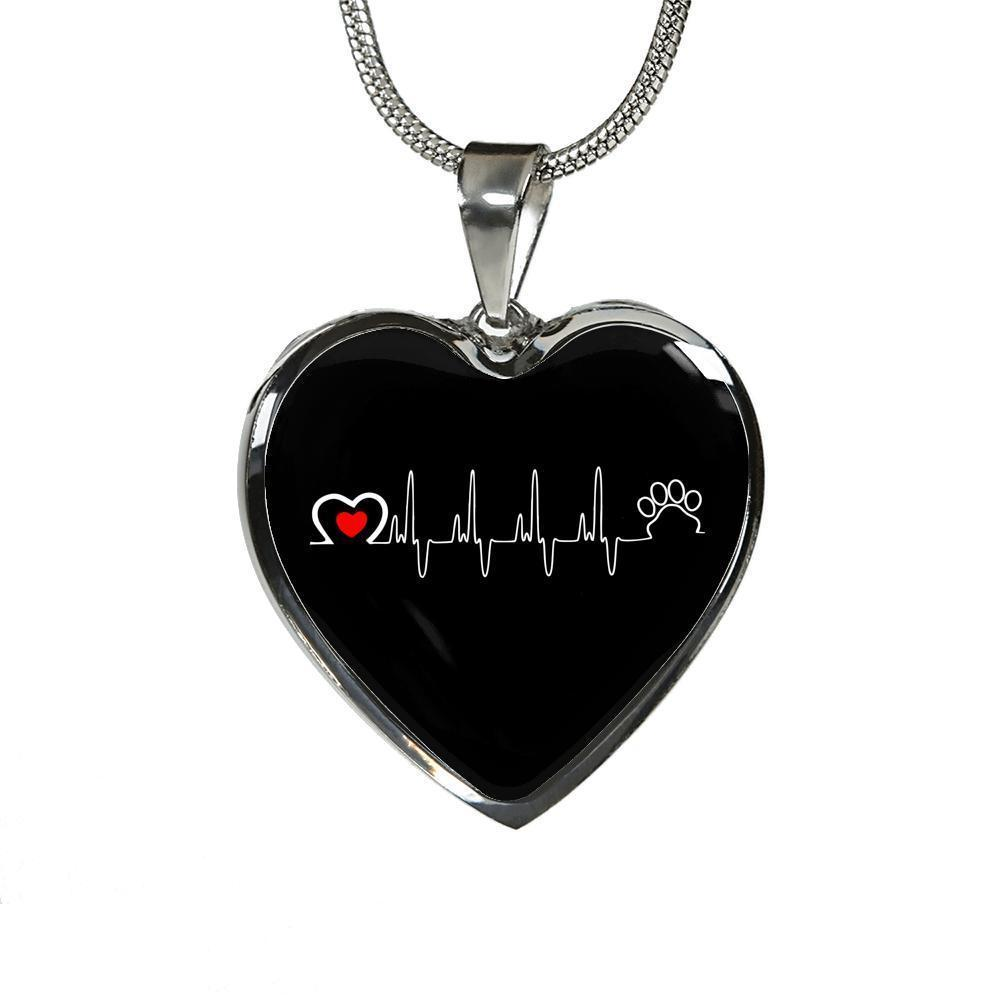 Veterinary Jewelry Gift Luxury Heart Necklace - Animal Love Beat-Necklace-I love Veterinary