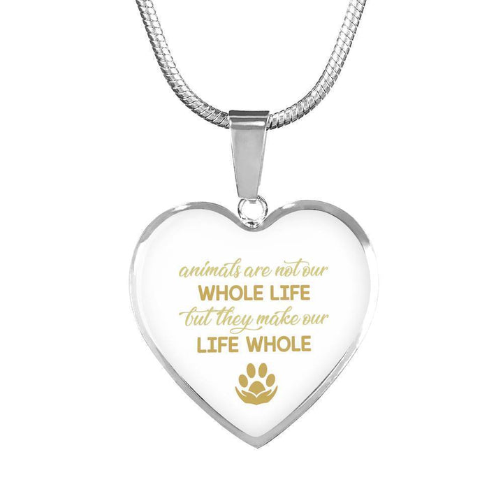 Veterinary Jewelry Gift Luxury Heart Necklace - Animals are not our whole life-Necklace-I love Veterinary