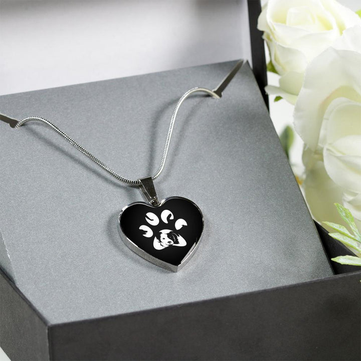 Veterinary Jewelry Gift Luxury Heart Necklace - Dog Pawprint-Necklace-I love Veterinary