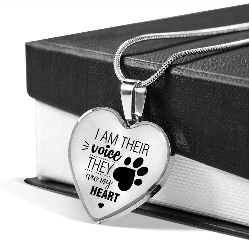 Veterinary Jewelry Gift Luxury Heart Necklace - I am their voice-Necklace-I love Veterinary