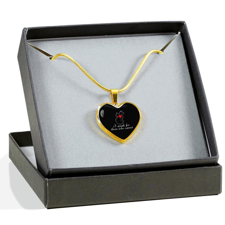 Veterinary Jewelry Gift Luxury Heart Necklace - I speak for those who cannot-Necklace-I love Veterinary