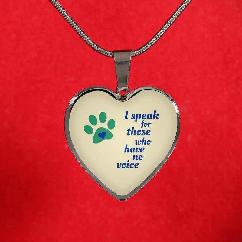 Veterinary Jewelry Gift Luxury Heart Necklace - I speak for those who have no voice-Necklace-I love Veterinary