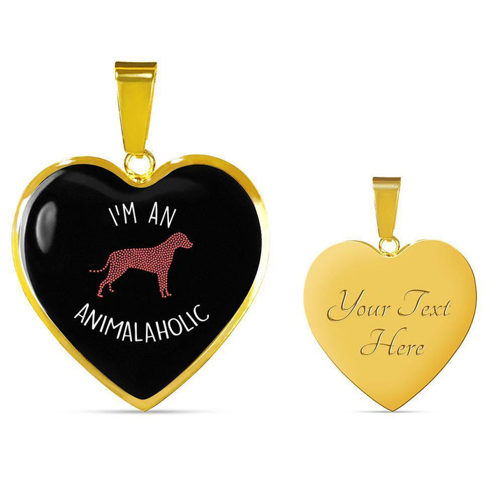 Veterinary Jewelry Gift Luxury Heart Necklace - I'm an animalaholic-Necklace-I love Veterinary