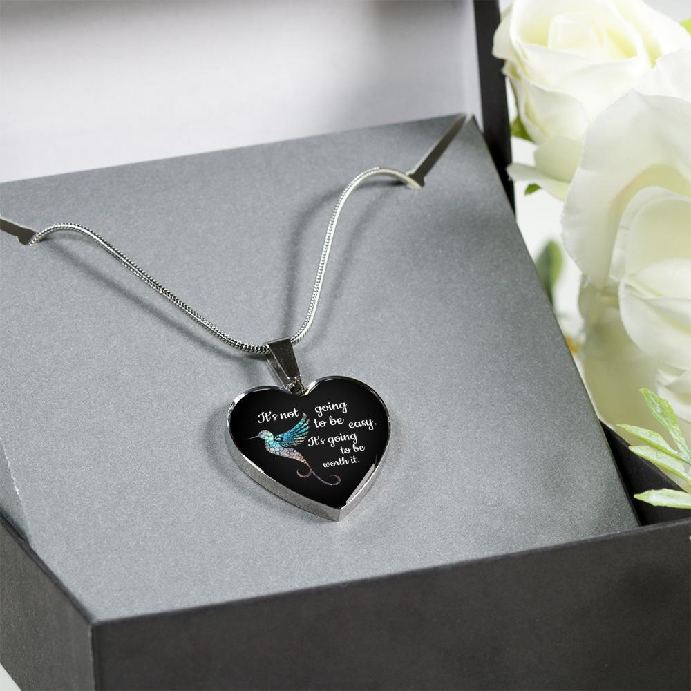 Veterinary Jewelry Gift Luxury Heart Necklace - It's not going to be easy. It's going to be worth it-Necklace-I love Veterinary