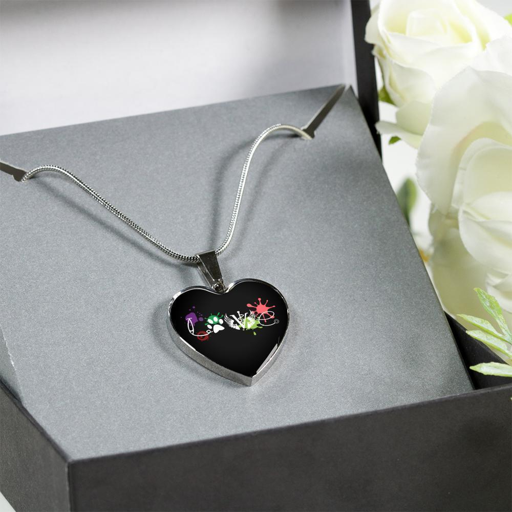 Veterinary Jewelry Gift Luxury Heart Necklace - LOVE Veterinary Medicine-Necklace-I love Veterinary
