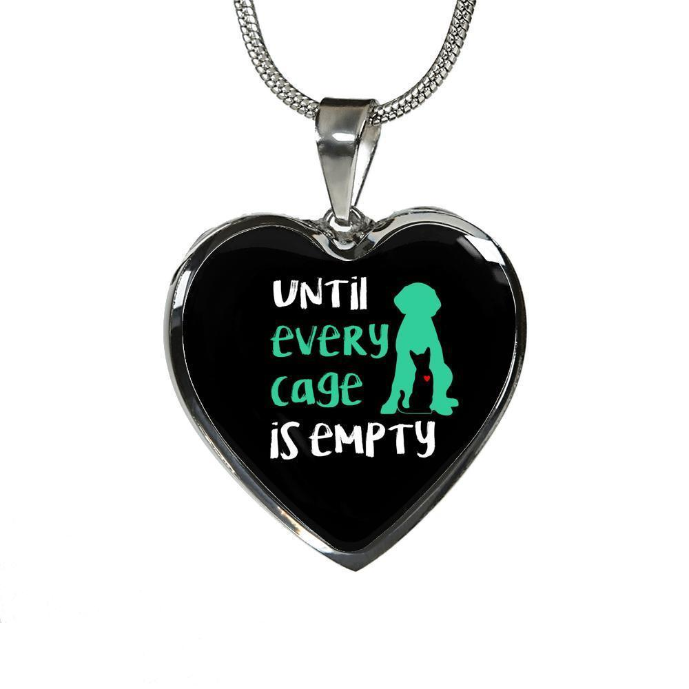 Veterinary Jewelry Gift Luxury Heart Necklace - Until every cage is empty-Necklace-I love Veterinary