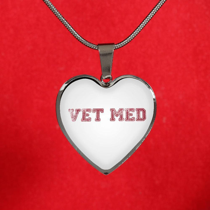 Veterinary Jewelry Gift Luxury Heart Necklace - Vet med-Necklace-I love Veterinary