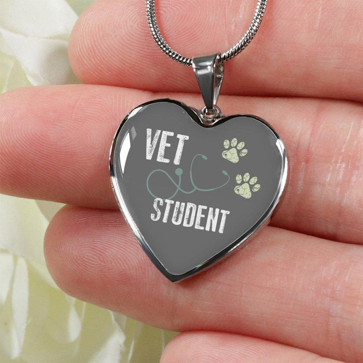 Veterinary Student Jewelry Gift Luxury Heart Necklace - Vet Student-Necklace-I love Veterinary