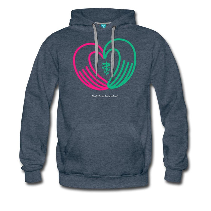 NOMV Heart made of hands Men's Premium Hoodie-NOMV Men's Hoodie-I love Veterinary