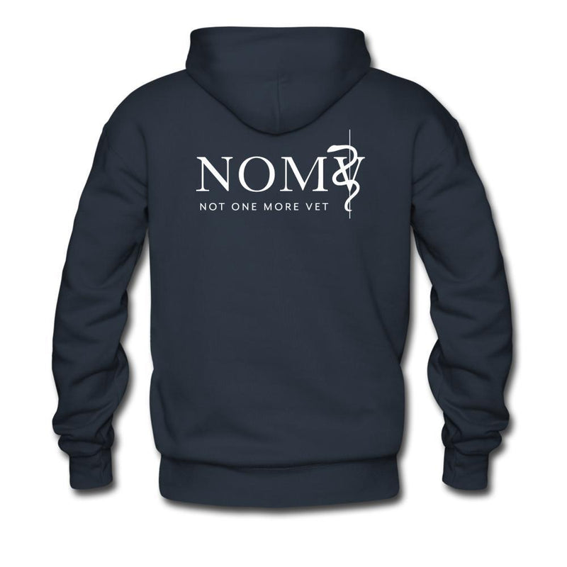 NOMV Not every superhero wears a cape Men's Premium Hoodie-NOMV Men's Hoodie-I love Veterinary