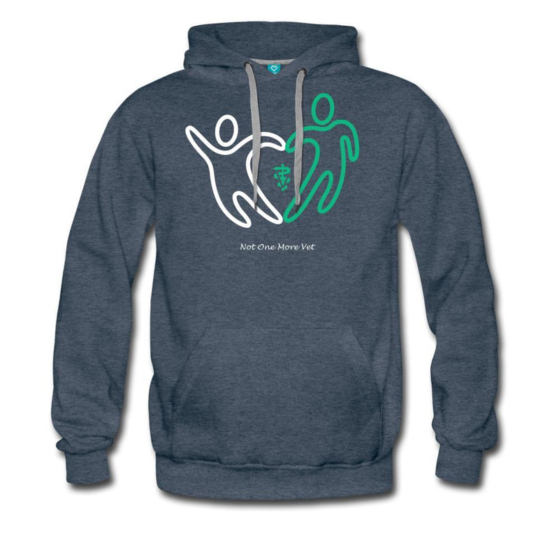 NOMV People make a heart Men's Premium Hoodie-NOMV Men's Hoodie-I love Veterinary
