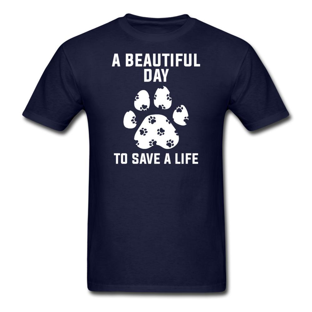NOMV A beautiful day to save a life Unisex T-Shirt-NOMV Unisex T-shirt-I love Veterinary