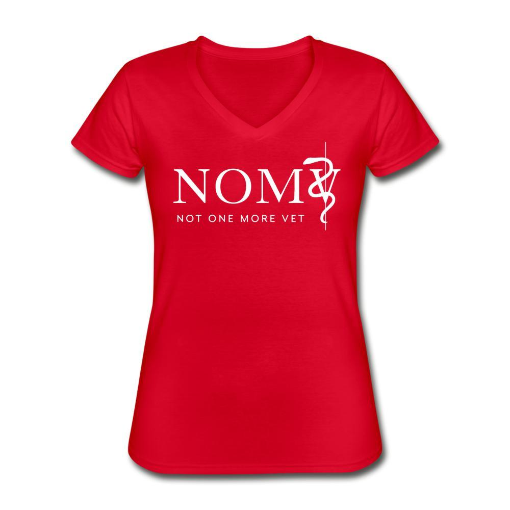 NOMV Women's V-Neck T-Shirt-NOMV V-neck-I love Veterinary