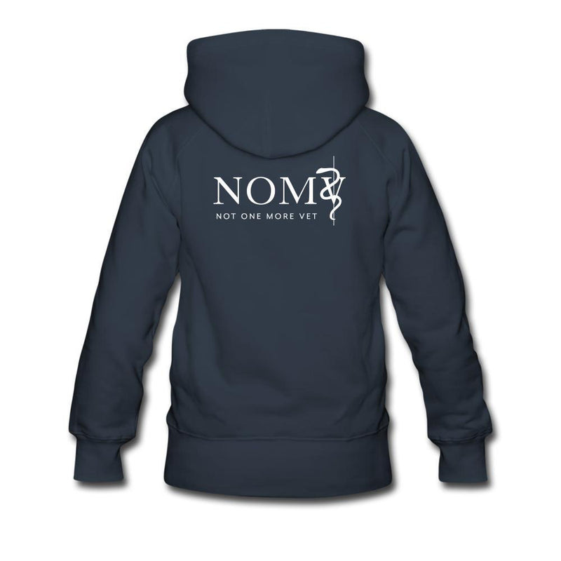 NOMV A beautiful day to save a life Women's Premium Hoodie-NOMV Women's Hoodie-I love Veterinary