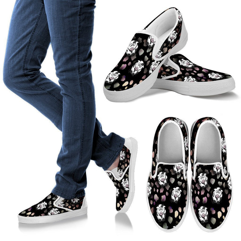 Crazy Cows Women's Slip Ons-Slip Ons-I love Veterinary