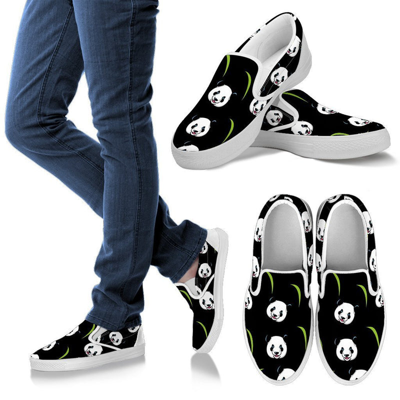 Panda Women's Slip Ons-slip ons-I love Veterinary
