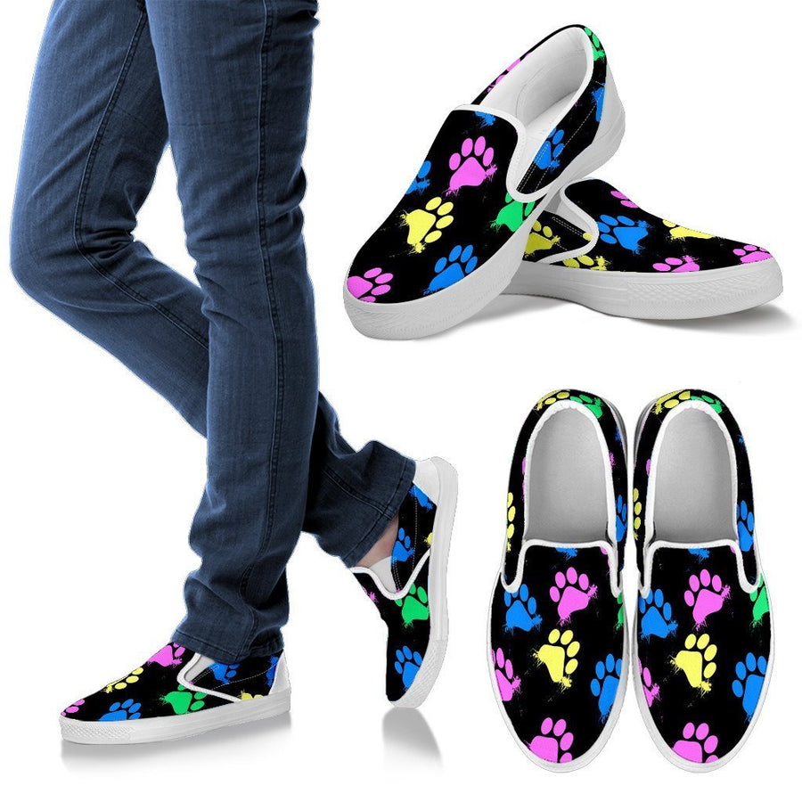 Pawprint Women's Slip Ons